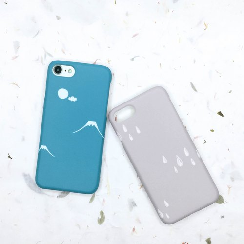 Castle Peak / gray rain - iphone / Android phone shell hard shell