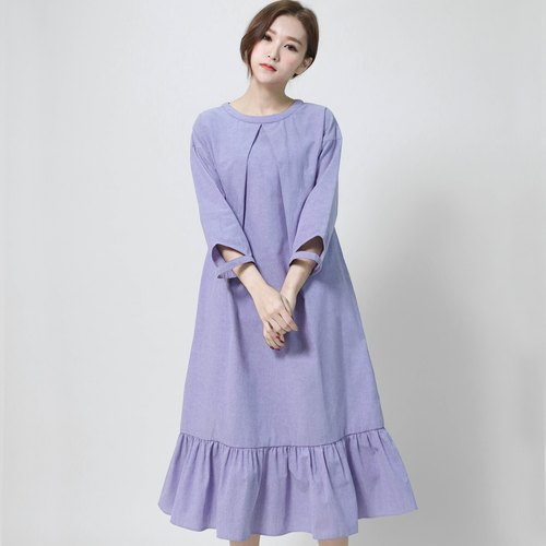 SU: MI said Independent independent tail structure dress _6AF102_ blue-violet