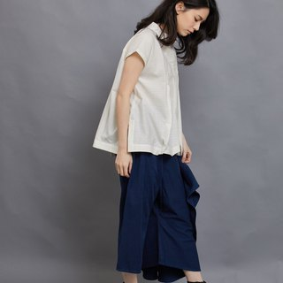 one leg flare pants-Exotic blue-fair trade
