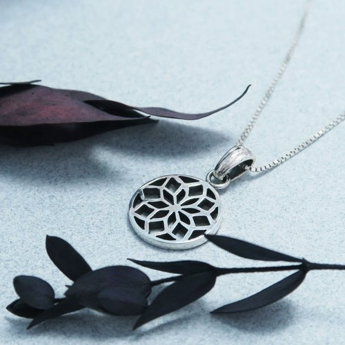 Window plus official window (small) 925 sterling silver necklace -ART64