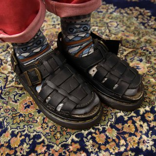 Tsubasa.Y Antique House A11 Black Monk Martin Sandals, Dr.Martens England