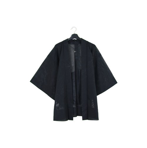 Back to Green :: Japan back to kimono feather weave shiny gorgeous shine garden / / men and women can wear / / vintage kimono (KI-60)