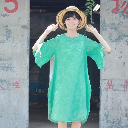 lake green color dress