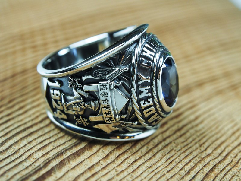 Military Academy Ring, Team Champion Ring, Company Memorial Ring (complex version)