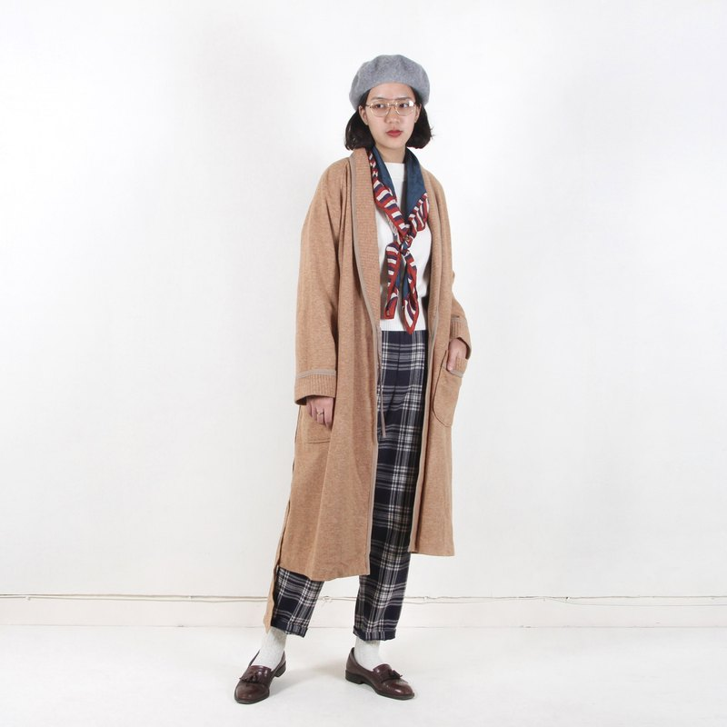 Egg plant vintage lazy impression robe vintage coat