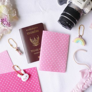 Polka dot or heart printed felt passport cover