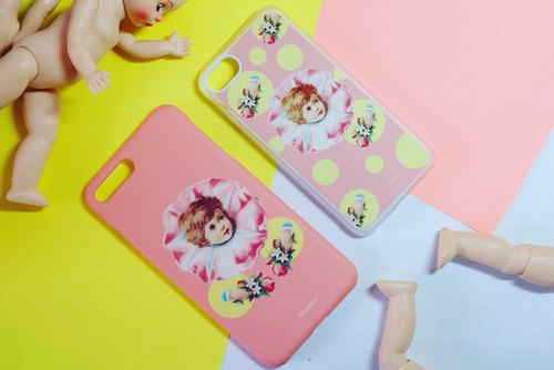 RemadeUni handmade iphonecase/Clown/Circus/kewpie/playful/vintage doll/Kawaii