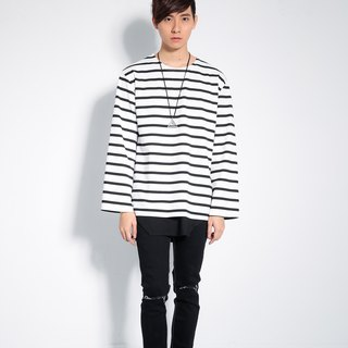 Sleeved striped shirt # 8818