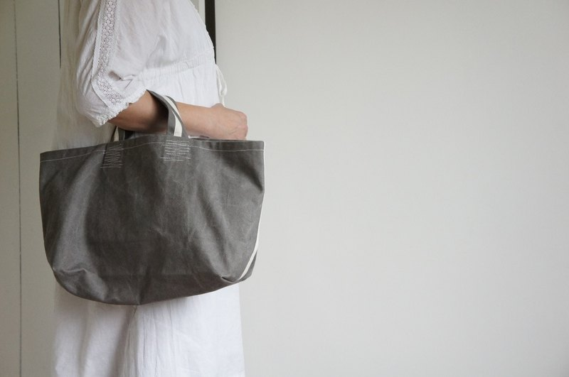 Short handles Canvas bag - Grey