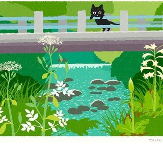 Tabineko illustration print (A3 size) |. 07 bloom under the bridge | Posters