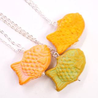 **Playful Design** Miniature Taiyaki Necklace