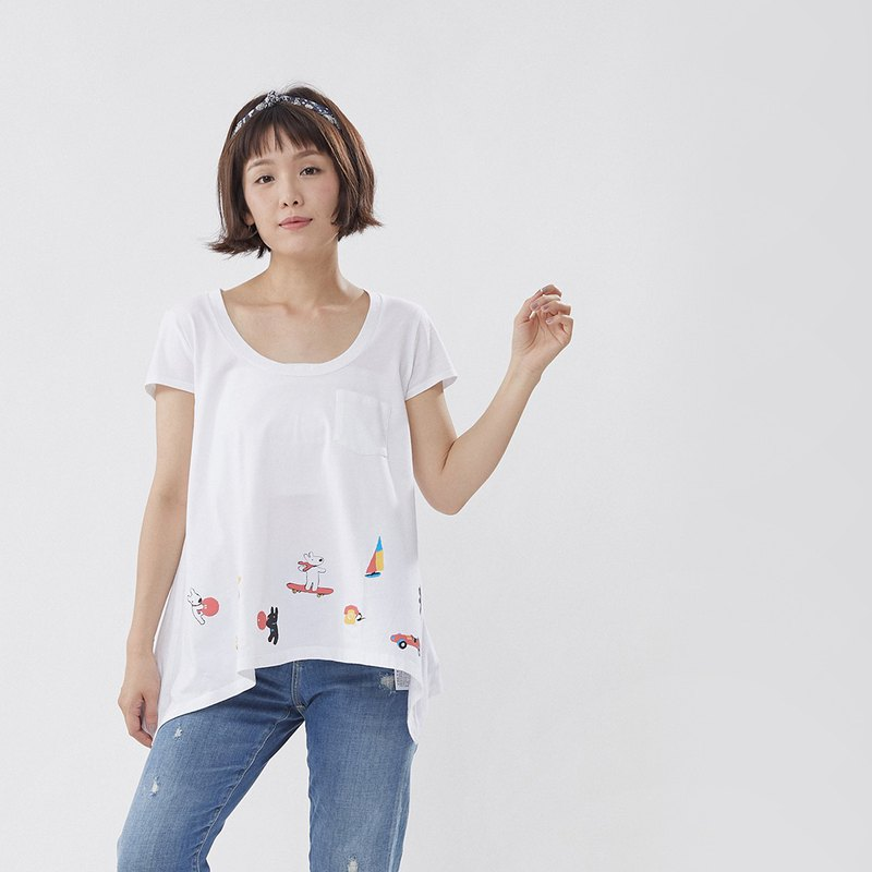 Gaspard et Lisa Playground Wide Hem T-shirt - 20th Anniversary Taiwan Limited