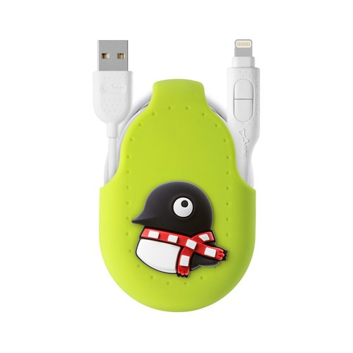 Bone / two in one dual transmission line charging cable dual line Android APPLE official certification iPhone - Penguin