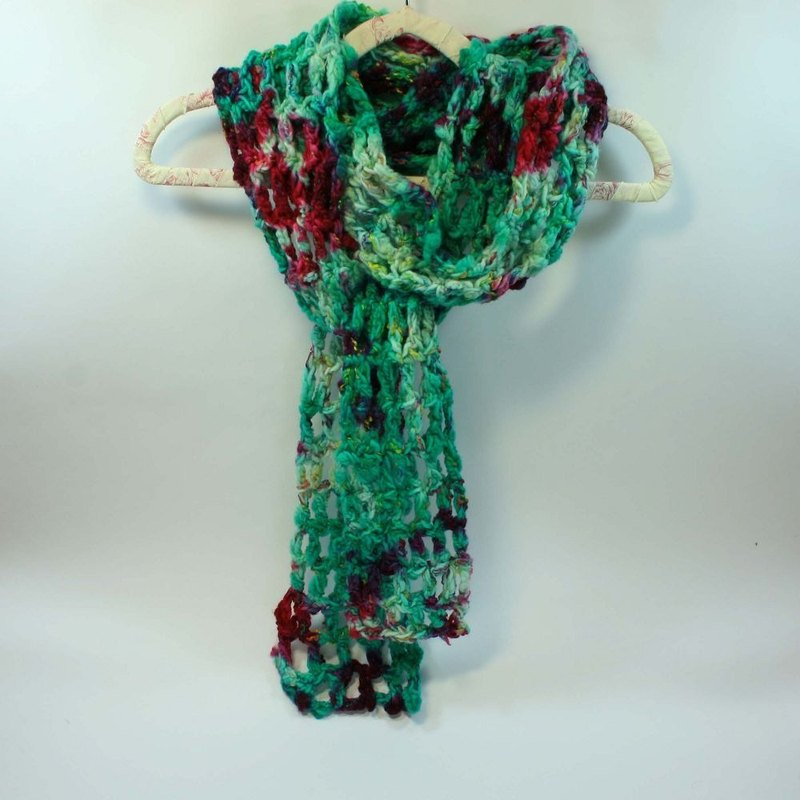 Knitted hand-woven scarf - pure wool 06