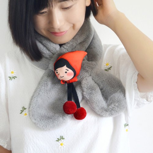 Little Red Riding Hood cute cross muffled scarf comfort scarf