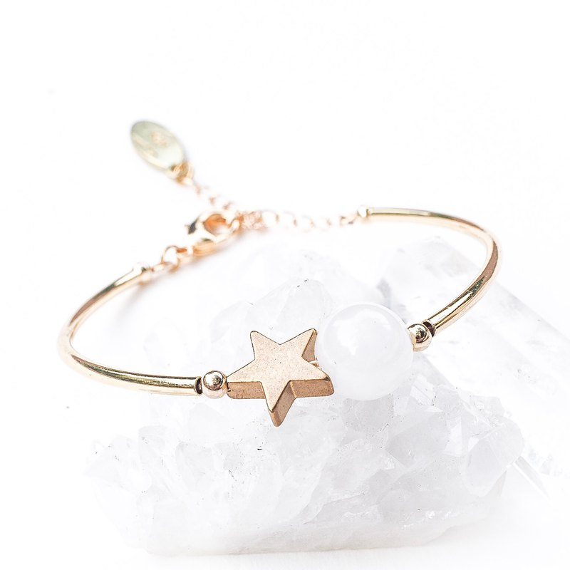 Star night White Agate Bracelet