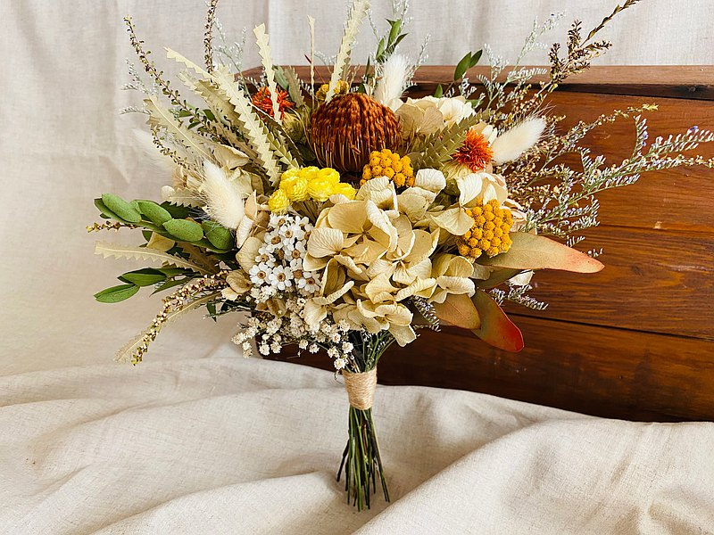 Masako autumn natural style dry bouquet gift outdoor shooting props