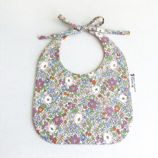 Double Sided Bib - Romantic Purple Flower