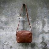 DAKS 英國 皮革古董側背包