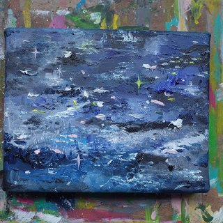 Heidi Original Painting - Blue Crystal Sea
