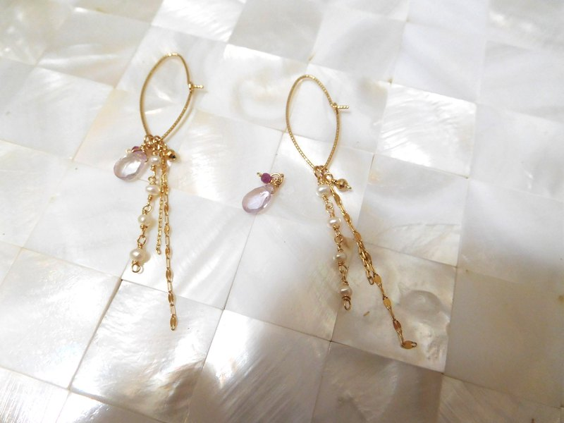 Pure 10k gold earrings gemstone tassel pendant three-piece set can not be opened for sale only this group