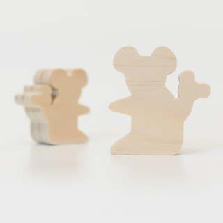 wagaZOO thick cut modeling building blocks forest series - koala