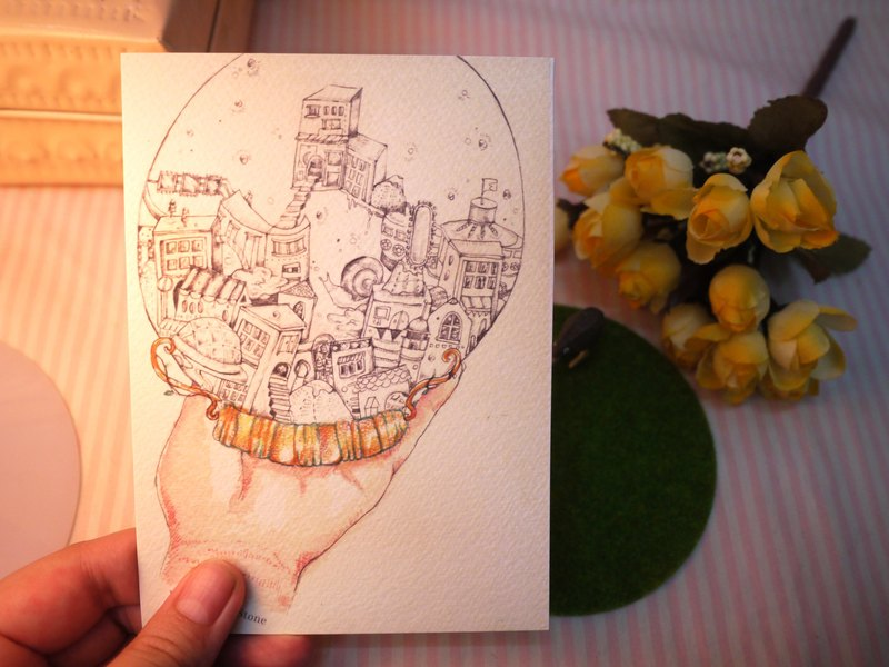 Original Illustration Postcard from Momo Leung
