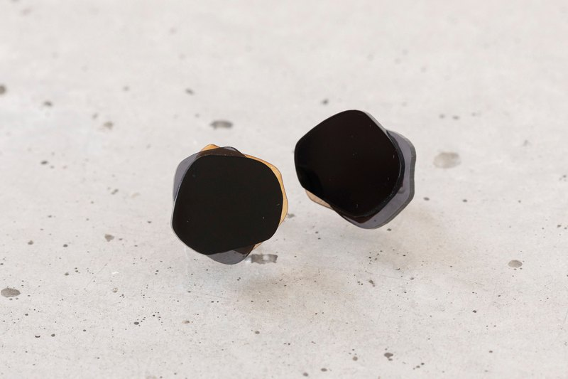 Paint Drop Earring / BLACK