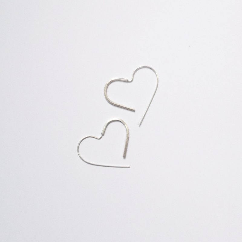Classic style - geometry - straight love earrings - ear hook