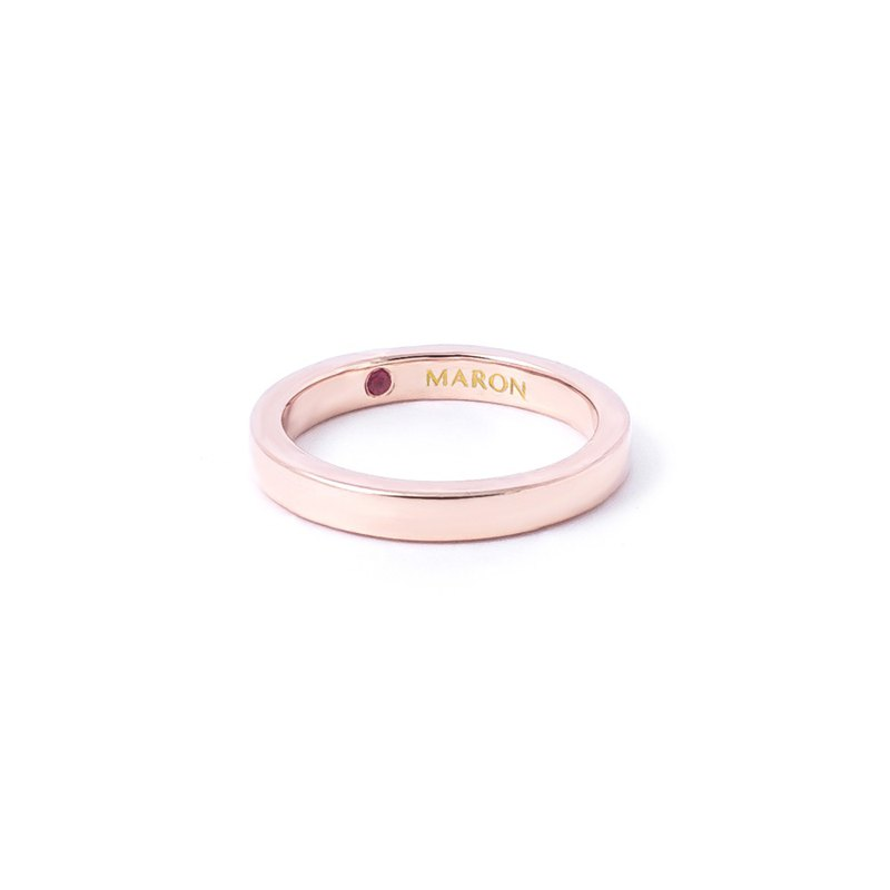 Narrow Love Band Ring (Rose gold)