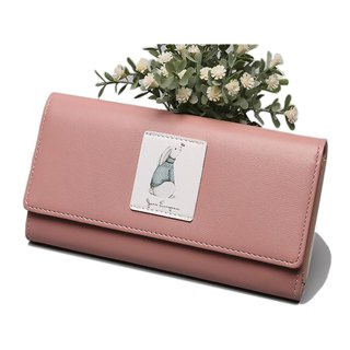 [Limited time discount] small fresh girl large-capacity wallet / long clip / wallet / mobile phone bag / black / pink