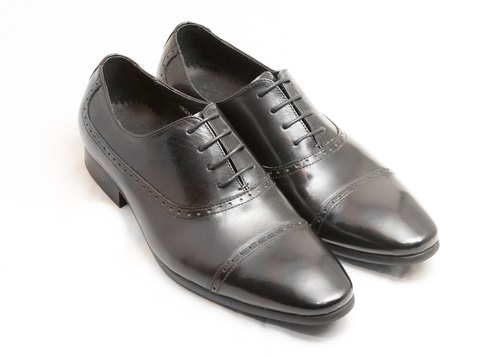 Hand-colored calfskin leather with kapito carved oxford shoes leather shoes men's shoes - Black - Free Shipping - E1A01-99