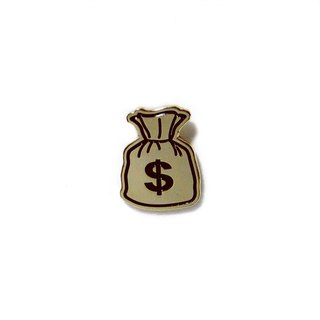 Money Bag Emoji Pin
