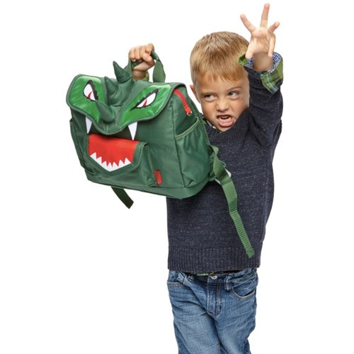 "Bixbee Animal Pack ""Dino"" Kids Backpack - Green"