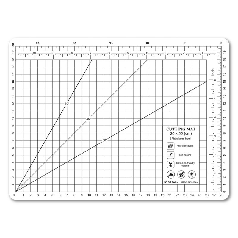 A4 milky white environmental protection cutting pad student table mat office stationery school office design gift gift