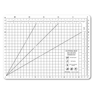 Lightweight odorless cutting pad (A4) milky white translucent / art professional use