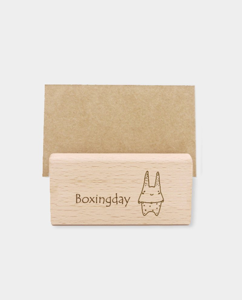 [Small box] [customer] wooden card holder / mobile phone holder L (shop dedicated QR cord) / gift