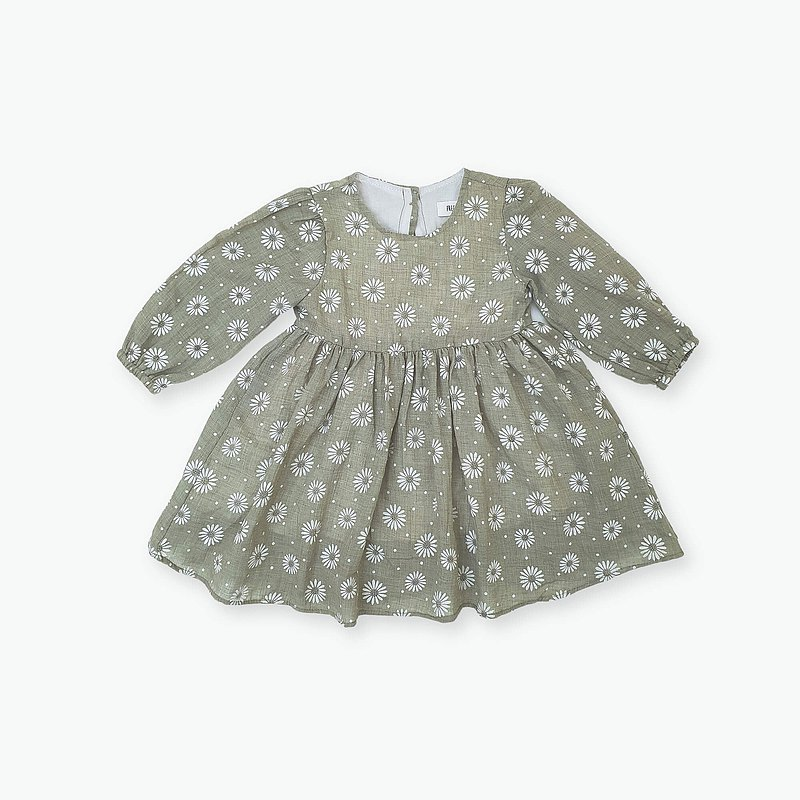 Australia imported children's clothing-Vera Dress Vera green floral one-piece dress