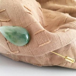 Burmese natural jade hat pin