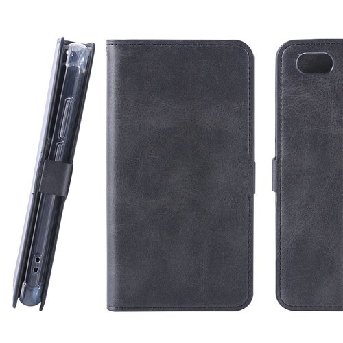 TWM A32 Special Antique Magnetic Side Sliding Leather Case - Black (4716779659474)