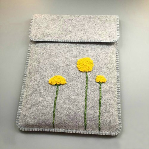 Embroidery section - small daisy Macbook11 \ 12 \ 13 \ 15 inch blanket cloth liner bag | computer bag