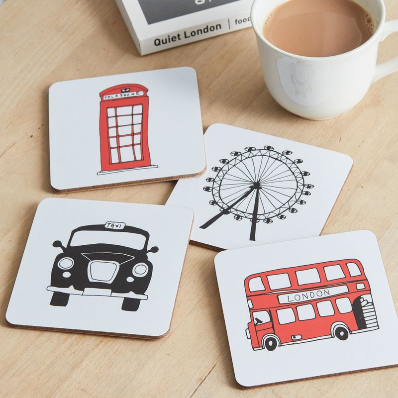 English Egg Mug Coaster London Skyline
