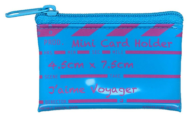 Director clap Mini card holder - Blue