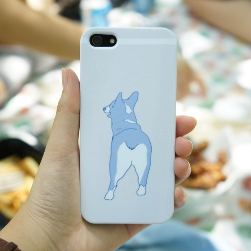 Cool blue Corgi phone shell Iphone5 / s / se