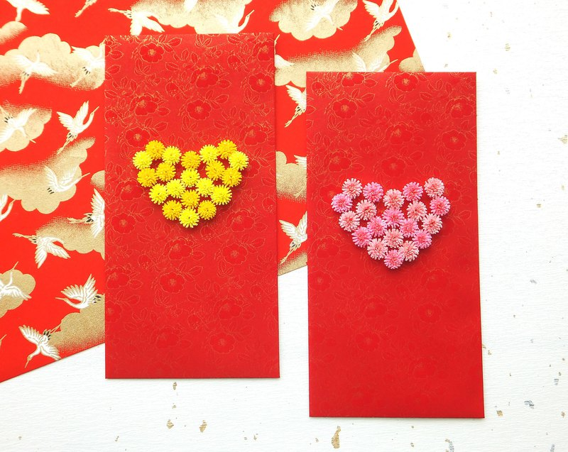 Hand made decorative Red envelopes-love