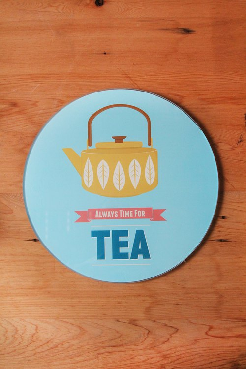 British Rayware Nordic simple teapot totem glass chopping board / placemat / insulation pad - spot free shipping