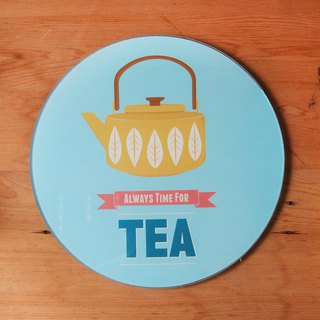 British Rayware Nordic minimalist teapot totem glass cutting board / placemat / insulation pad - spot