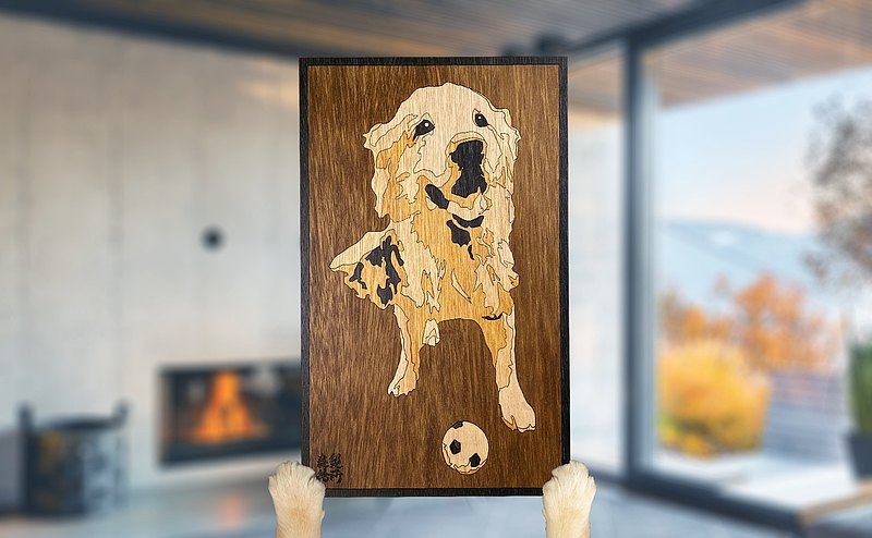 [Customized] [Handmade wooden painting] Customized pet portraits like face painting