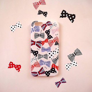 Pink Poka Girl Bow Phone Case