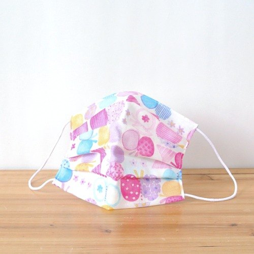 TEMARIYA | handmade mask Butterfly Purple | Comfortable Cute Made in japan